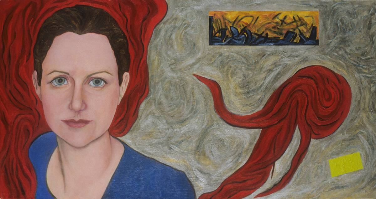 "Rebecca, 2001 | 18"" x 36"" 
