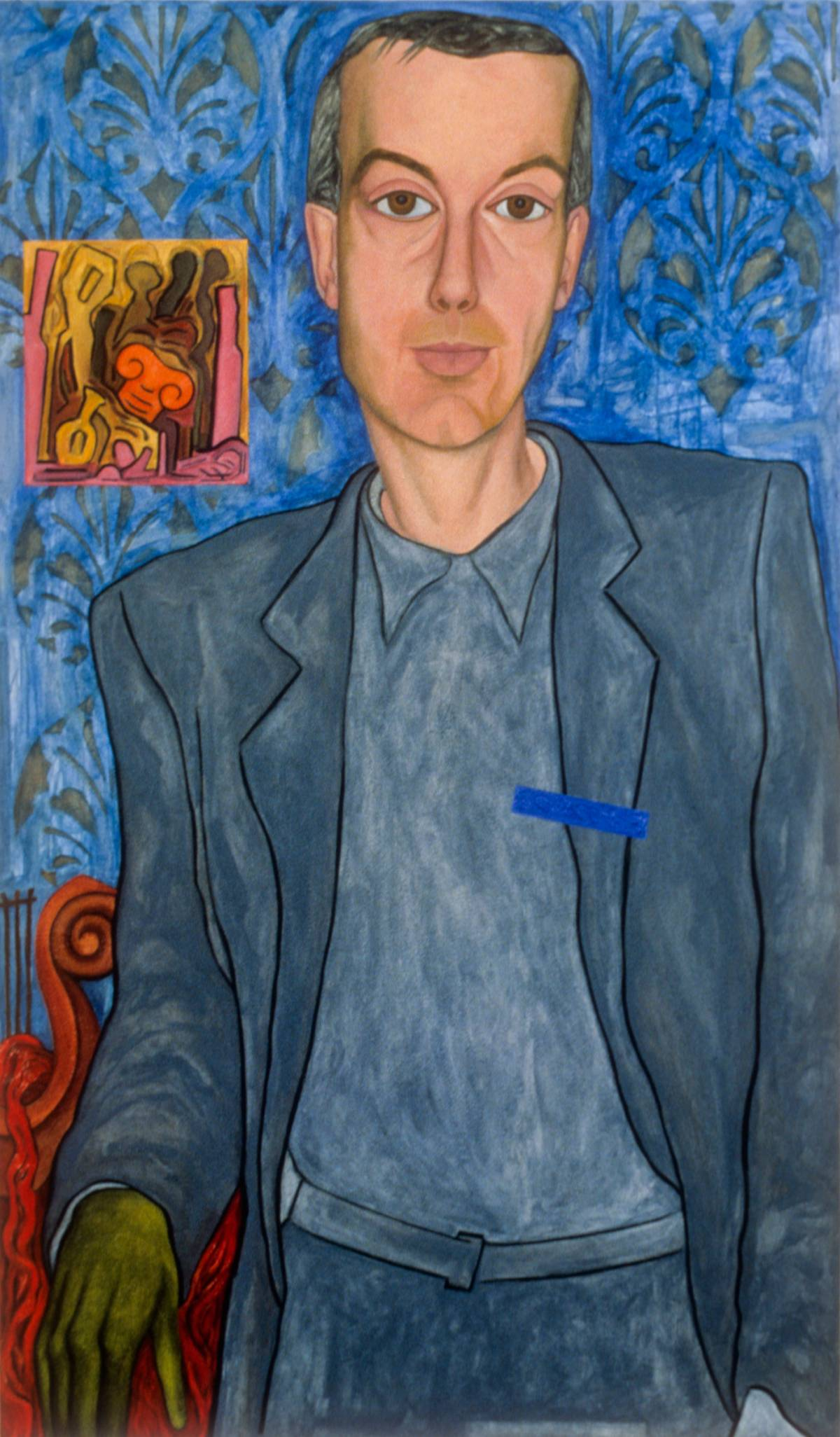 "Portrait of John Ash, 1998 | 60"" x 35"" 