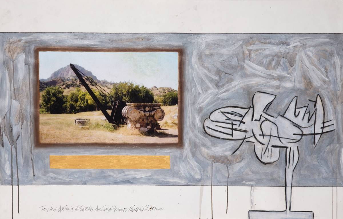 "Anatolia Redux.23, Temple of Artemis at Sardis, 2000 | 26"" x 40"" 