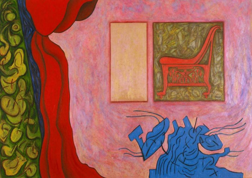 "Engram, 2005 | 38"" x 54"" 