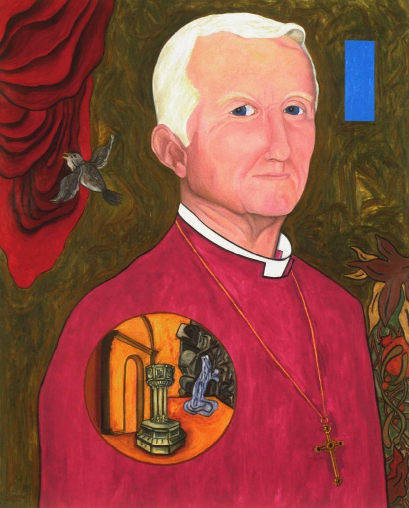 "Portrait of Edmond L. Browning, XXIVth Presiding Bishop of the Episcopal Church, 1997 | 50"" x 40"" 