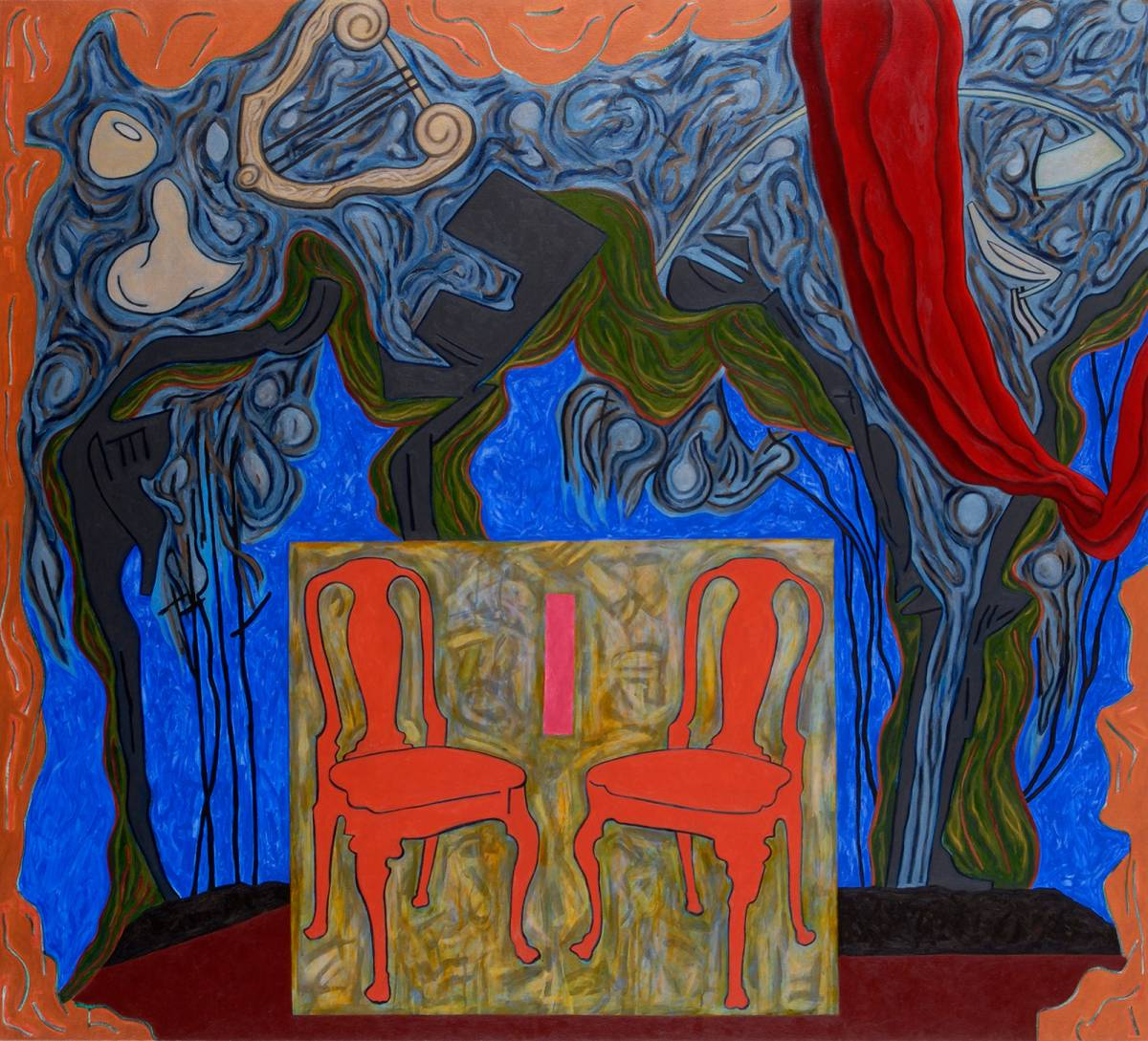 "Nightfall, 2004 | 60"" x 66"" 