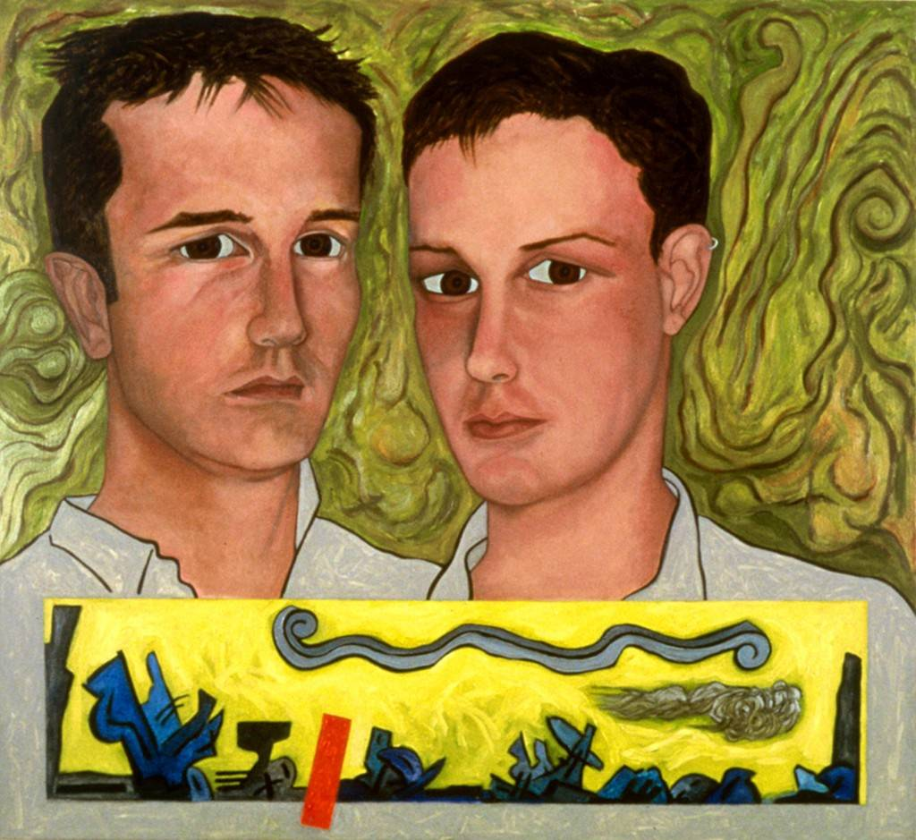 "Summer, 1998 | [Portrait of Tom Breidenbach & Iannis Delatolas] | 37"" x 40"" 