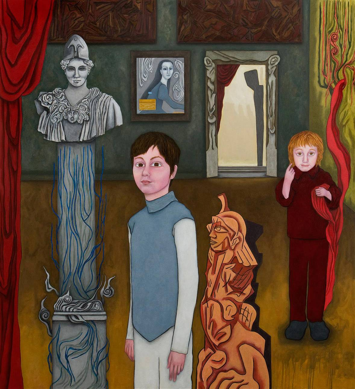 "The Eternal Return, 2009 | [Portrait of Maximilian & Theodore Browde] | 72"" x 66"" 