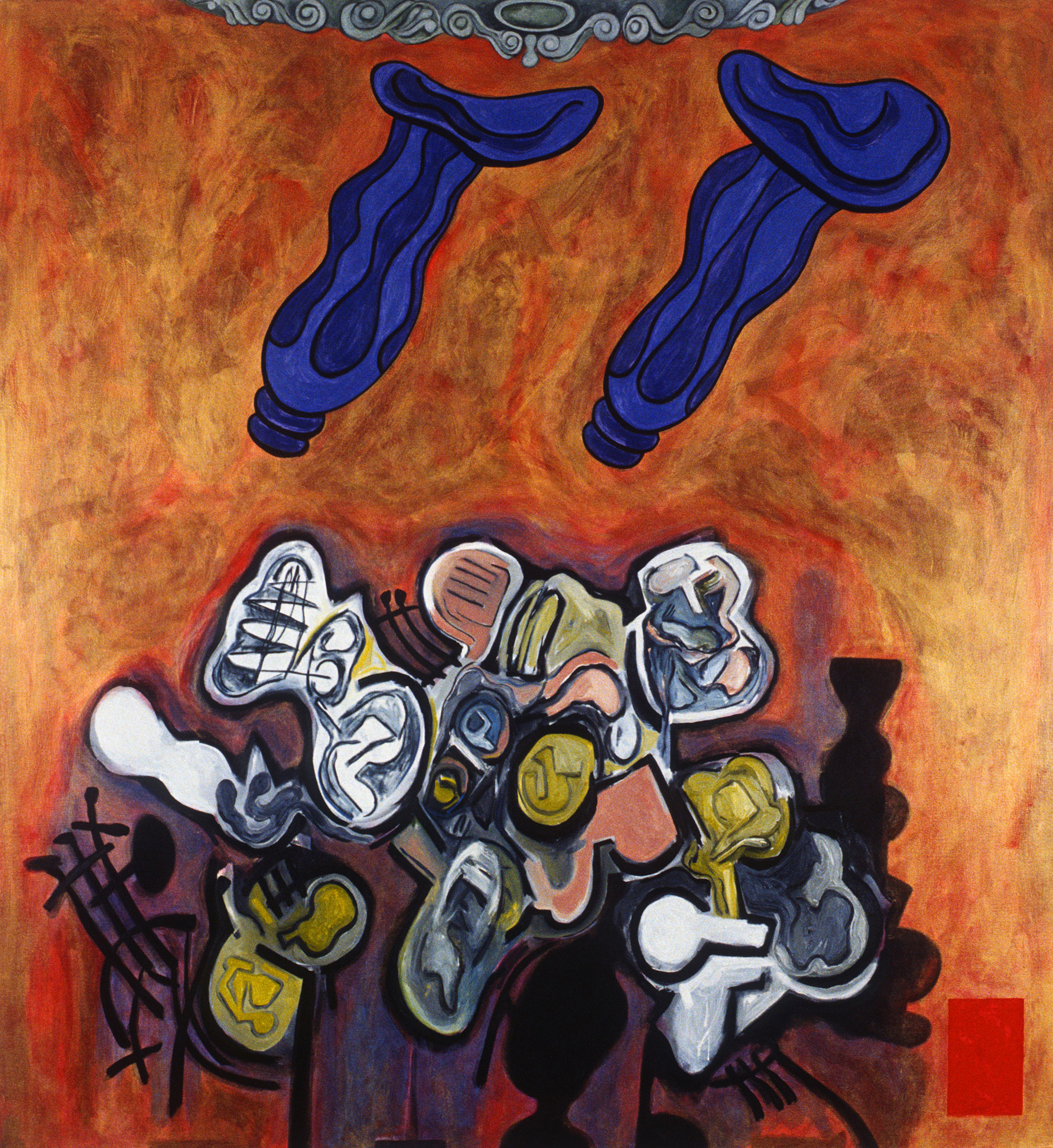 "Epithalamium, 1990 | 72"" x 66"" 